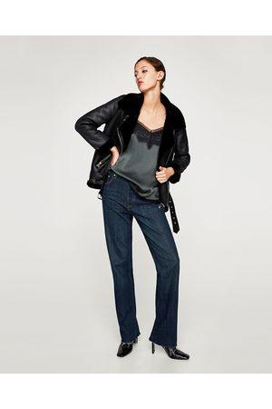 Zara BLUSA TIPO LINGERIE - Disponível em mais cores