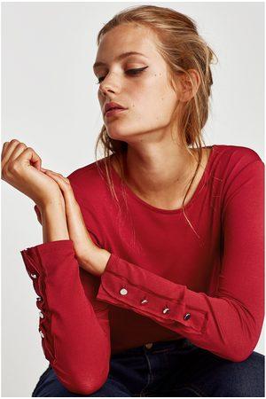 Zara T-SHIRT BOTÕES PUNHO - Disponível em mais cores