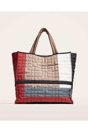 Zara TOTE BAG ACOLCHOADA MULTICOLORIDA