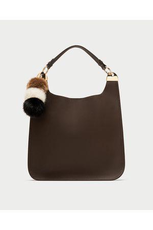 Zara SHOULDER BAG POMPOM