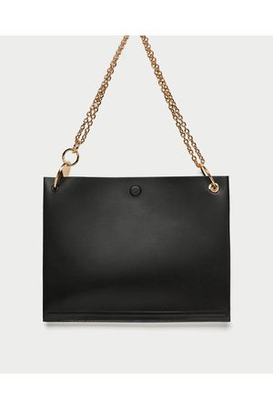 Zara SHOULDER BAG LISO CORRENTE