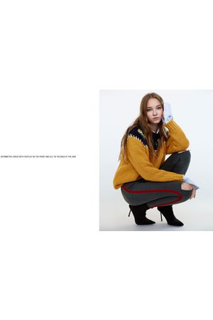 Zara JEANS HIGH ELASTICITY HIGH WAIST FAIXA LATERAL