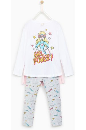 "Zara PIJAMA ""GIRL POWER"" CAPA"
