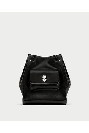 Zara SHOULDER BAG PORMENOR FECHO