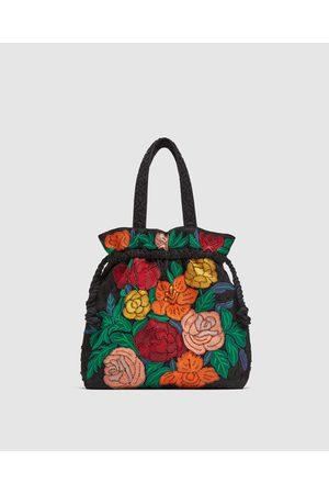 Zara SHOULDER BAG COM BORDADO DE FLORES