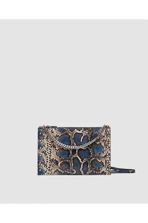 Zara MALA A TIRACOLO-CLUTCH DE PELE COM ESTAMPADO - Disponível em mais cores