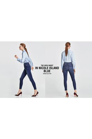 Zara JEANS HIGH WAIST NICOLE BLUE