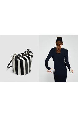 Zara Senhora Malas à Tiracolo - SHOULDER BAG ÀS RISCAS