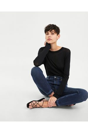 Zara JEANS HIGH WAIST MIDNIGHT BLUE