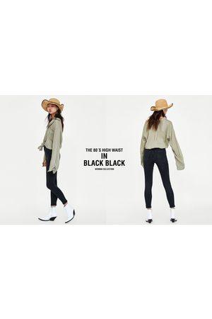 Zara JEANS 80´S HIGH WAIST BLACK BLACK