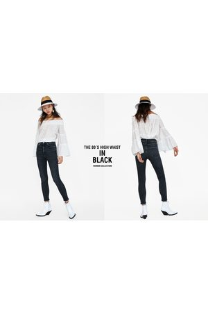 Zara JEANS 80'S HIGH WAIST BLACK