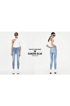 Zara JEANS 80´S HIGH WAIST SONORA BLUE