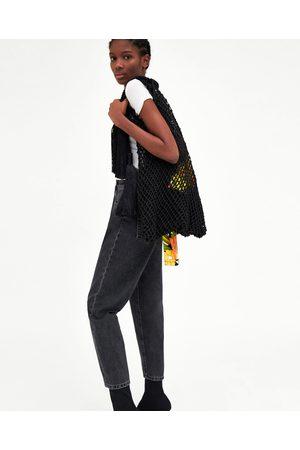 Zara SHOULDER BAG DE MESH COM BORLAS