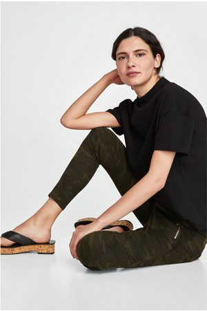 Zara CALÇAS POWER STRETCH COM ESTAMPADO DE CAMUFLAGEM