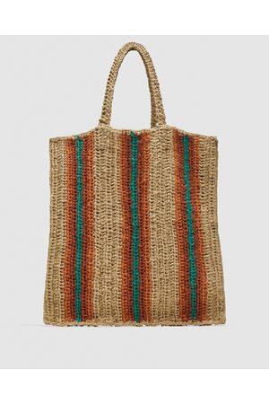 Zara SHOULDER BAG EM TECIDO