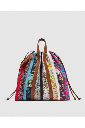 Zara SHOULDER BAG COM ESTAMPADO MULTICOLORIDO