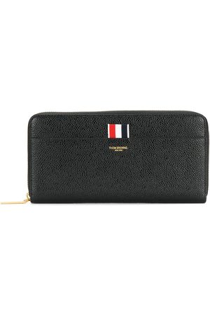 Thom Browne PEBBLED LEATHER LONG ZIP-AROUND PURSE