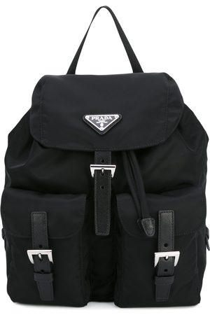 Prada Logo plaque nylon backpack
