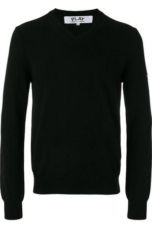 Comme des Garçons Homem Camisolas sem capuz - Embroidered heart patch sweatshirt