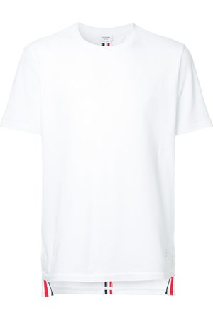 Thom Browne Center-Back Stripe Relaxed Fit Short Sleeve Pique Tee