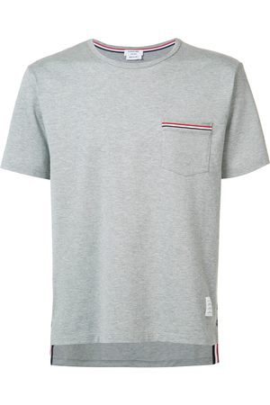 Thom Browne Short Sleeve Pocket Tee In Medium Weight Jersey Cotton