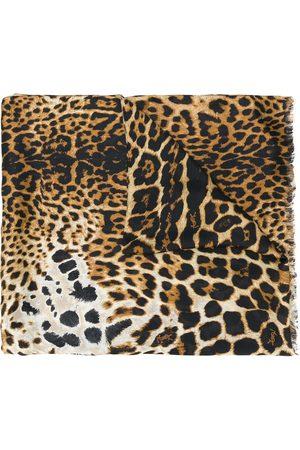 Saint Laurent Leopard scarf