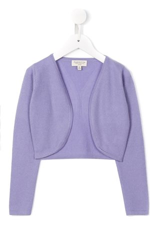 CASHMIRINO Cropped v-neck cardigan