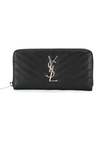 Saint Laurent Senhora Bolsas & Carteiras - Monogram matelassé zip-around wallet