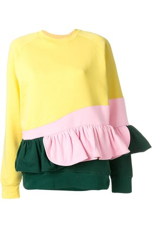 Ioana Ciolacu Frilled colour block sweatshirt