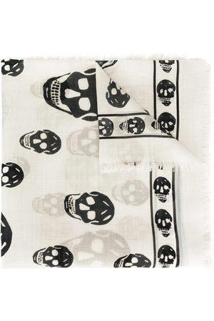 Alexander McQueen Fringed skull-print scarf