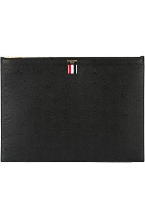 Thom Browne Large Zipper Laptop Holder (39X28CM) In Pebble Grain