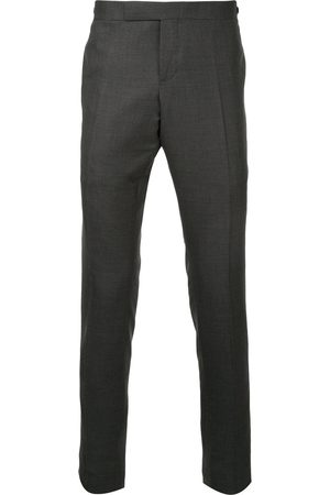 Thom Browne Low Rise Skinny Side Tab Trouser In Super 120's Twill
