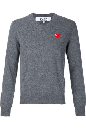 Comme Des Garçons Play Homem Camisolas - Embroidered heart jumper