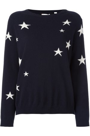 Chinti & Parker Cashmere slouchy star intarsia sweater