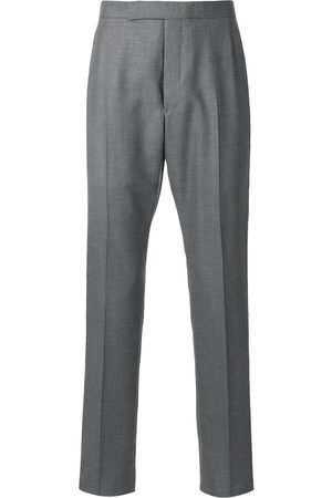 Thom Browne Homem Calças Formal - Backstrap cropped tailored trousers