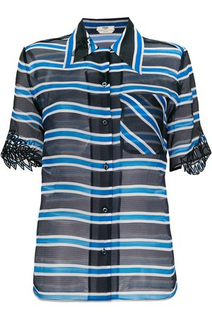 Fendi Senhora Blusas - Striped sheer blouse
