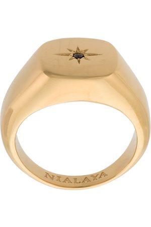 Nialaya Skyfall Starburst Signature ring in Gold