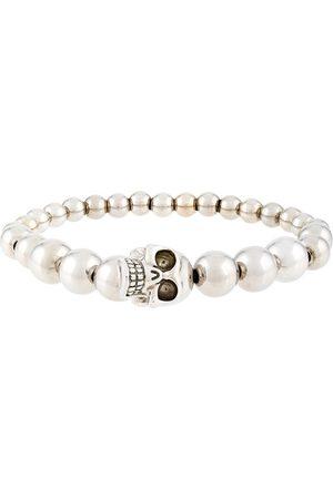 Alexander McQueen Beaded skull bracelet