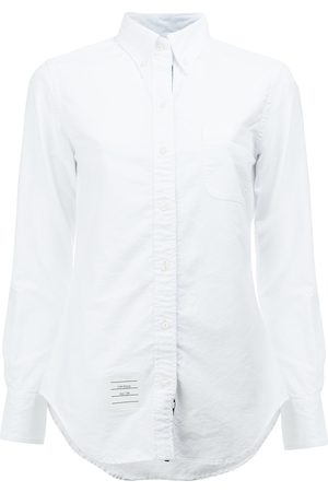 Thom Browne Classic Long Sleeve Button Down Shirt In Oxford