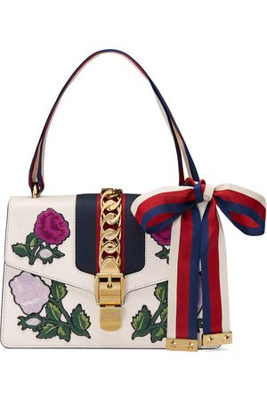 Gucci Embroidered Sylvie Small shoulder bag