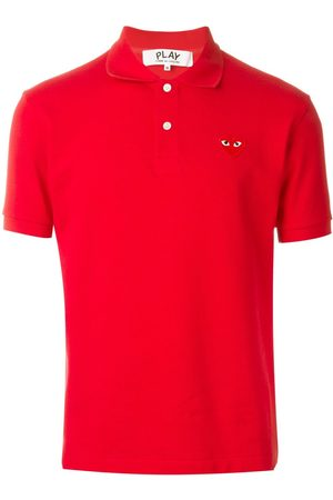 Comme des Garçons Homem Formal - Embroidered heart polo shirt