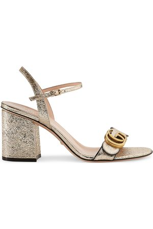 Gucci Laminate leather mid-heel sandal