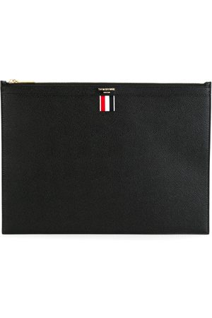 Thom Browne Zippered Document Holder In Pebble Grain