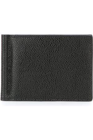 Thom Browne Money Clip Wallet In Pebble Grain