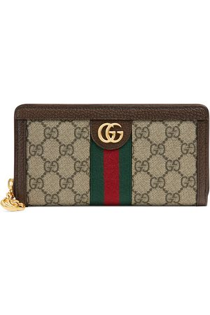 Gucci Beige Ophidia GG zip around wallet
