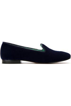 Blue Bird Velvet I Do loafers