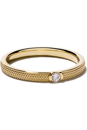 De Beers 18kt yellow gold Azulea One-Diamond band