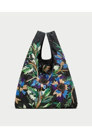Zara SHOULDER BAG BORDADO FLORES