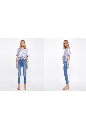 Zara JEANS HIGH WAIST BROOME BLUE