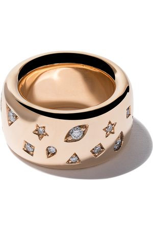 Pomellato 18kt Iconica wide band diamond ring